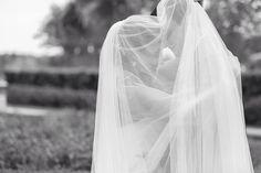 Rosen shingle creek wedding in Orlando, Florida. Bride and groom, under the veil. #RosenShingleCreek