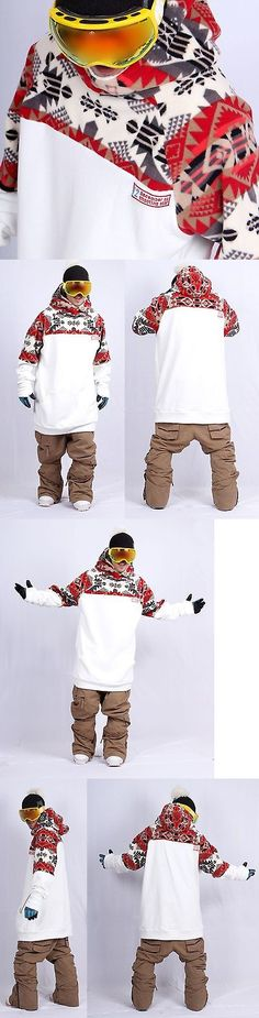 Other Winter Sport Clothing 16060: December Long Tall Hoodie Ski Snowboard Sports-Gaia White -> BUY IT NOW ONLY: $69.99 on eBay!