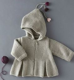 Phildar pattern # 74 Autumn issue in Russian shows schematic of pattern Baby Knitting Patterns, Knitting For Kids, Crochet For Kids, Baby Patterns, Crochet Baby, Knit Crochet, Baby Cardigan, Cardigan Bebe, Baby Pullover