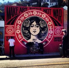 Another great piece of work by Obey (Shepard Fairey) #obey #shepardfairey #streetart