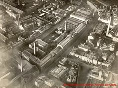 Image from University of Dundee Archive Services   MS 66/X/12/1 (13) Tay Works, (on what is now West Marketgait), Dudhope Works, Ward Foundry and the sheriff court. 1923