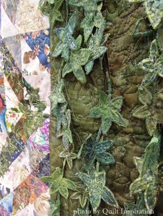 close up, Growth by Marijke van Welzen, Germany.  2015 WQS.  Photo by Quilt Inspiration.
