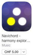 Navichord die Harmonie-Lern-App auch zum live spielen