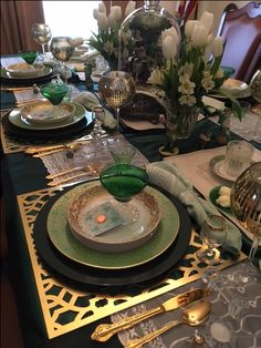 St. Pat's tablescape at my house 2017