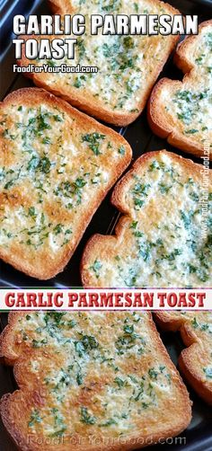 We just love making this Garlic Parmesan Toast recipe and we are hoping that with our quick and easy guidance it will become your favorite recipe as well. How can you resist a delicious toasted bread with garlic flavored butter, mixed herbs and. Amish Recipes, Italian Recipes, Sweet Recipes, Cooking 101, Cooking Recipes, Pasta Recipes, Garlic Toast Recipe, Amazing Vegetarian Recipes, Garlic Parmesan