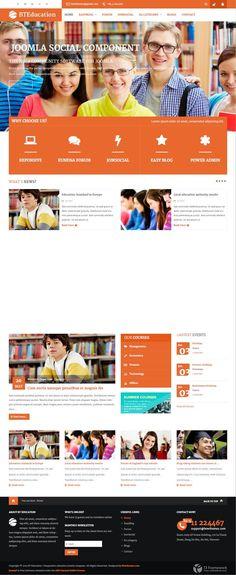 BT Education Joomla Social Networks Template