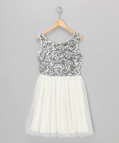Awesome Frozen Wedding Dress White & Silver Sequin Dress - Toddler & Girls... Check more at http://24shop.cf/fashion/frozen-wedding-dress-white-silver-sequin-dress-toddler-girls/