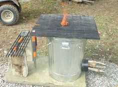 How To Build A Badass Rocket Stove From A Trash Can  #diy #prepping #survival #camping