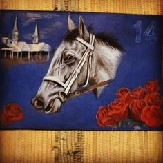 Mohaymen  Good luck! :)  @kentuckyderby  #kentuckyderby#KyDerby#Mohaymen#racehorse#grey#thoroughbred#RunfortheRoses#ChurchillDowns#thebest