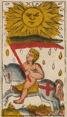 XIX - The Sun The Tarot of Jacques Vieville, originals from the French National Library