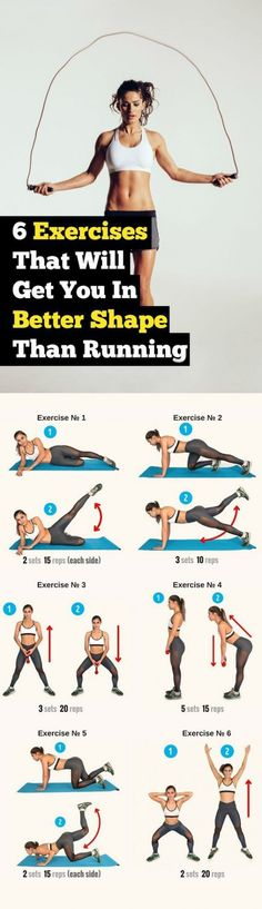 These 6 Exercises Are More Effective In Shaping Your Body Than Running diet workout metabolism are diets healthy for weight loss, diet how weight loss, Diets Weight Loss, eating is weight loss, Health Fitness Fitness Workouts, Sport Fitness, Running Workouts, Body Fitness, At Home Workouts, Fitness Motivation, Health Fitness, Running Diet, Exercise Motivation