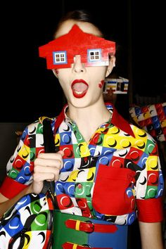 And This Must be the Lego Land Lego Builder on her OFF TIME! lol!   ~ Jean Charles De Castelbajac, Lego loving