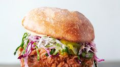 Fried Chicken Sandwiches with Slaw and Spicy Mayo Recipe | Bon Appetit