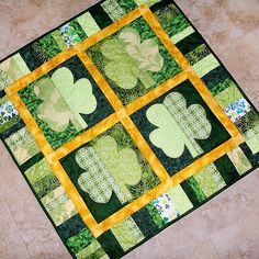 Shamrock Green Quilt Pattern. After a Christmas quilt, why not branch out to other holidays?