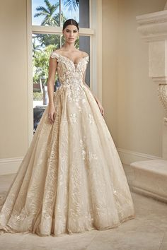 Demetrios Collection Bridal Dresses: Every design pays close attention to detail and quality, giving each Demetrios wedding dress its signature touch Wedding Dress Styles, Bridal Dresses, Wedding Gowns, Fairy Wedding Dress, Vintage Glamour, White Fabrics, Embroidered Lace, Star Fashion, Marie