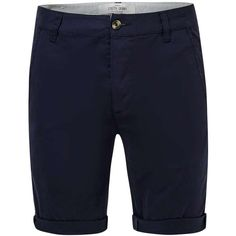 TOPMAN Navy Stretch Skinny Chino Shorts ($29) ❤ liked on Polyvore featuring men's fashion, men's clothing, men's shorts, navy, mens navy chino shorts, mens stretch waist shorts, mens long shorts, mens navy blue shorts and mens chino shorts