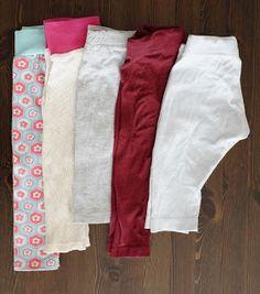 Fuchsgestreift: Refashion: Baby Leggings aus alten T-Shirts Eine ganze Kollektion aus Leggings aus aussortierten Shirts!