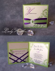 Wedding Invitation by: Enchanted Moments - Invitations & Cards