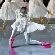This is a good example of emphasis. emphasis is being shown on the ballerinas shoes by the use of color. The color draws our attention to them.