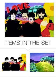 """The Beatles"" by deborah-strozier ❤ liked on Polyvore featuring art and modern"