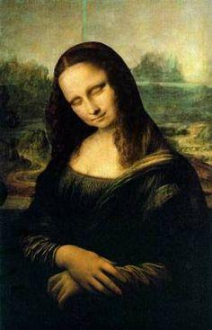Mona Lisa taking a nap