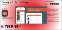 #TierneyTools May 14, 2015: Zaption https://www.zaption.com/ | Follow TierneyEd on Twitter and Tierney Brothers on Facebook for new tech tools! | https://www.facebook.com/TierneyBrothers | https://twitter.com/TierneyEd | #edtech