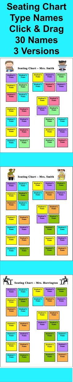 10X8 Horizontal Classroom Seating Chart Template - Free Printable