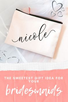 Celebrate the women in your life who have stood by your side thru thick and thin with a gift they will always use! Bridesmaid Gifts From Bride, Bridesmaid Gift Bags, Bridesmaid Proposal Box, Will You Be My Bridesmaid, Bridesmaid Tips, Bridesmaid Makeup Bag, Bridesmaids, Emergency Kit Items, Wedding Gifts