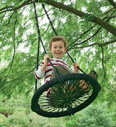 Hand-Woven Round-and-Round Seat Swing™