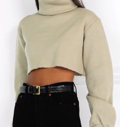 0d0f7cbef2a Orseund Iris - Cropped ribbed-knit turtleneck sweater