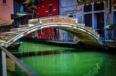 Canal bridge in Cannaregio, Venice, Italy. Cannaregio is the northernmost of the six historic sestieri of Venice. It is the second largest sestiere by land area and the largest by population. #venezia #italyphotography #adamtasimages #gondola #veneto #bridge