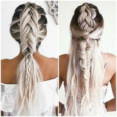 Who else is inspired by @emilyrosehannon's icy platinum tribal braids? Major music fest vibes ✨ #healthyhair #olaplex #inspired #platinum #braids #coachella #musicfestivalhair