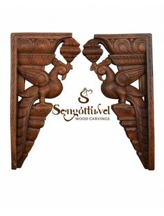 Wonderful Wood Wall Brackets of parrot Wood Crown Molding, Door Brackets, Wooden Elephant, Dark Wax, Wooden Walls, Interior Design Kitchen, Beautiful Birds, Wall Mount, Wood Carvings