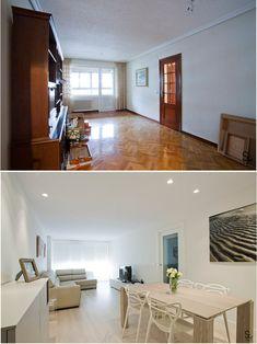 Antes y después de la refoma en esta vivienda de Pamplona