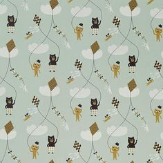 Kite Wallpaper - Mint by Naken Interiors