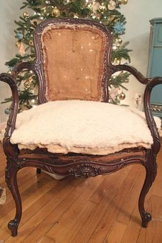 Stripping, Repairing, and Upholstering a French Chair, Part 3! - Shades of Blue Interiors