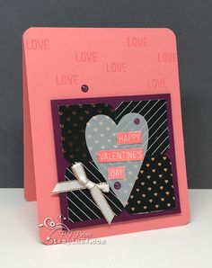 Heartfelt Love Notes Paper Pumpkin kit for January 2018!  LOVE this kit!  16 Valentines!  #stampinBJ.com