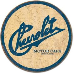 #FaureciaNAIAS2014. Chevrolet Motor Cars Detroit Michigan Distressed Historic Logo Retro. Use for emblems on interior or exterior.