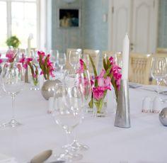 table in Blue Room at Dwor Oliwski Restaurant, #Gdansk, #Poland