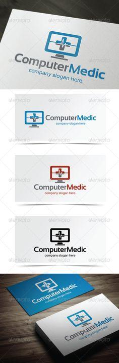 Computer Medic - Logo Design Template Vector #logotype Download it here: http://graphicriver.net/item/computer-medic-/5483610?s_rank=38?ref=nesto