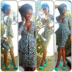 Patterned peplum ~Latest African Fashion, African Prints, African fashion styles, African clothing, Nigerian style, Ghanaian fashion, African women dresses, African Bags, African shoes, Nigerian fashion, Ankara, Kitenge, Aso okè, Kenté, brocade. ~DKK