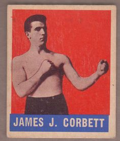1948 Leaf Boxing James J. Corbett