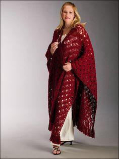 Crimson Lace Free Shawl Crochet pattern