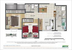 2 quartos - 1ª opção Minha casa minha vida