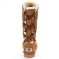 UGG Australia Bailey Bow Tall Boots ($200) ❤ liked on Polyvore featuring shoes, boots, women, tall boots, ugg australia boots, ugg australia, high boots and sheepskin shoes
