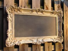 WEDDING VICTORIAN CHALKBOARD Magnetic Romantic by RevivedVintage, $189.00  oh wait!  I can make that for $50~