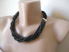 Chunky layered Wedding necklaceHandmade Wedding by galladesign, $40.00