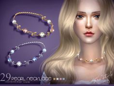 Necklace and Bracelet / Sims 4 Custom Content