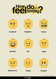 Lego Moods /by designholic #redbubble #LEGO #geeky #poster $45.60
