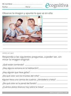 Ejercicios de atención - Estimulación cognitiva High School Spanish, Elementary Spanish, Spanish Teacher, Spanish Classroom, Teaching Spanish, Activities For Adults, Infant Activities, Learning Activities, Gifted Kids